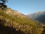 Rocca Morel dal sentiero di salita