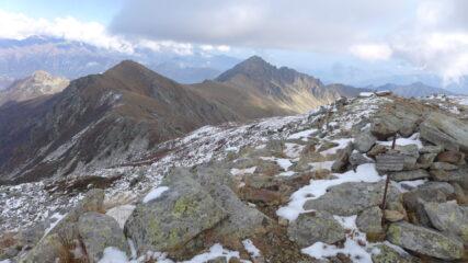 In cima al Ciriunda, sullo sfondo Marmottere e Moross