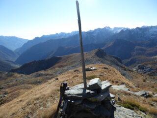dalla cima Vernouille uno sguardo al monte Ros appena salito