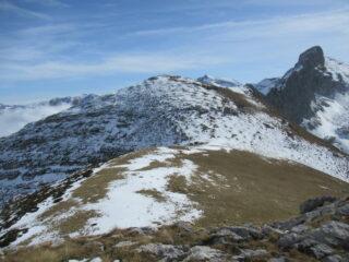 Monte Jurin (m.2188) dal Bec Rosso (m.2151).