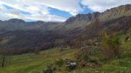 All'orizzonte da sinistra Ciriunda,Marmottere e Rocca Moross