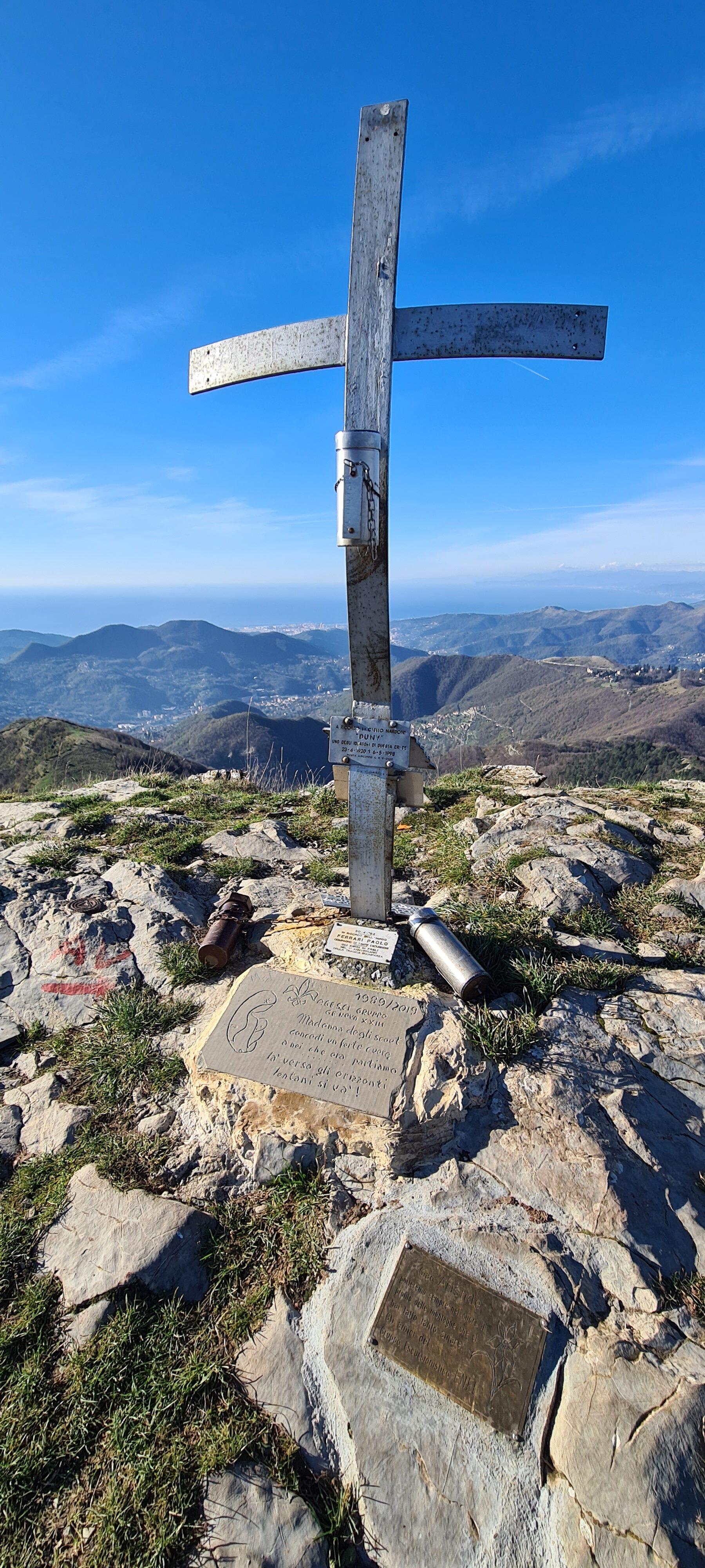 croce di vetta del Monte Alpesisa