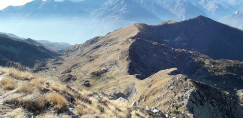 Cresta spartiacque tra Settimo Vittone e Lillianes