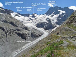 Panorama super dal Ref de la Pilatte.