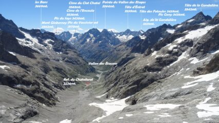 Panorama dal Ref. du Promontoire.