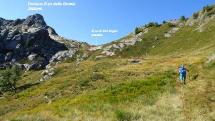 Saliamo verso il P.so di Val Vegia.