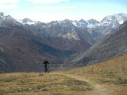 l'arrivo al Colle Serasin 2040 m.