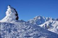 Anticima Punta Leissé e Monte Bianco