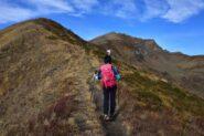 Risalendo la cresta Sud-Est del monte Tibert