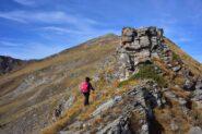 Un tratto della cresta Sud-Est con roccette