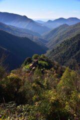 La valle di Canate dal sentiero verso la cresta