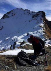 Il versante nord, in fondo il Morion e la cresta
