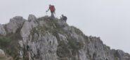 l'arrivo in vetta al Monte Toraggio