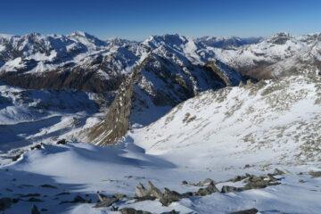 il bel pendio che dal colle porta a Mont Forciaz