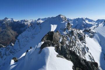 la cresta da percorrere per la Punta Rabuigne