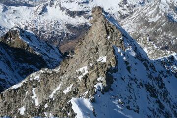 il Mont Forciaz con la cresta percorsa per salire a Rabuigne