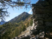 La testa Combè vista da rocca Lisciart