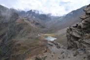 Il vallone di Arbolle dal Colle di Chamolé