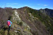 Sulla. cresta verso il monte Borgo con a destra il monte Manico del Lume