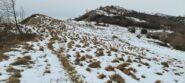 il facile crinale che porta al Monte Alpe