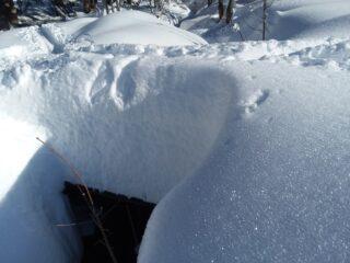spessore della neve a Pian du Creus