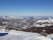 Panorama verso nord, con la Val Nure