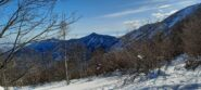 Monte Curt (al centro) e Musinè a sinistra dal cole della Portia