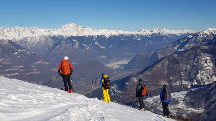 Bellissima vista sulla Valtellina