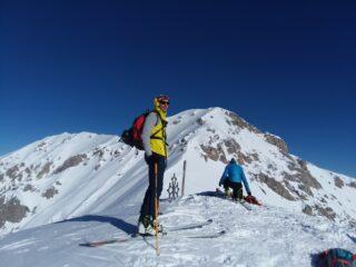 Francesco e la sua prima vetta sci-alpinistica