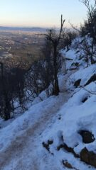 traverso nord , con neve ghiacciata