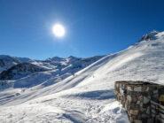 Vista sull'alta val Corsaglia dal colletto della Balma