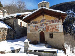 Foto d'obbligo, alla chiesetta di Charvaz