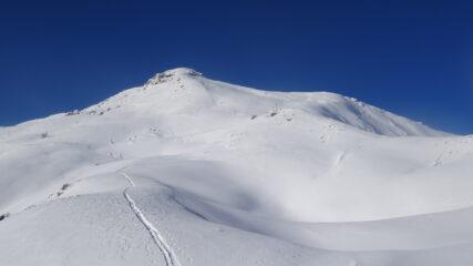 In salita ormai in prossimità del Monte Blegier