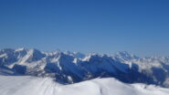 Vista sugli Ecrins dal Monte Blegier