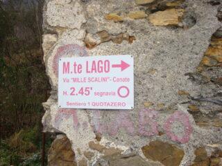 cartello al ponte di Cavassolo
