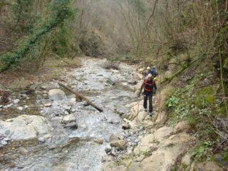 risalendo il Rio Canate