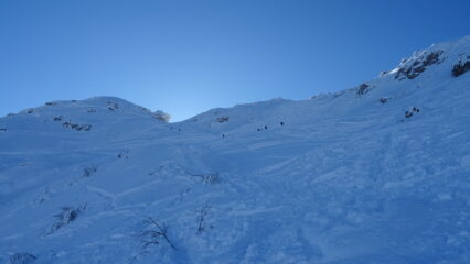 Ultimi metri verso la bocchetta di cresta.