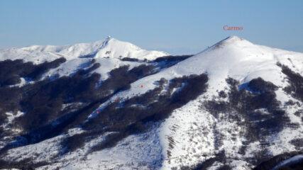 Il Monte Carmo ,  recenti valanghe a lastroni di dimensione importanti