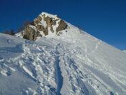 Il passaggio più impegnativo, ma reso agevole dalla traccia e dalla tanta neve