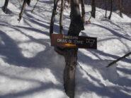 palina segnaletica per il monte Tempie..