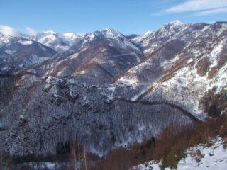 vista sull'alta valle Corsaglia