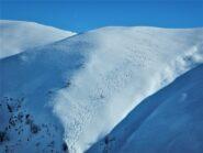 La dorsale della prima discesa nel vallone Lombarda