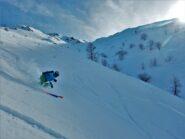 Seconda discesa su neve ancora migliore