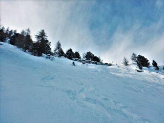 Sopra il Peyron, qui la neve migliore