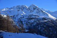 Alpe Fetes e gruppo della Gr.Rousse scendendo dal M.Arp Vieille