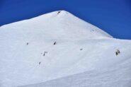 La piramide sommitale del Pic Blanc du Galibier