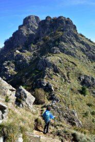 Risalendo la cresta sud-ovest della P.Martin