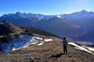 Sulla cresta verso la Becca France