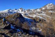 Veduta verso il Fallere e il M.Rosso dalla Becca France