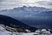 Panorama verso la Valle Centrale e l'Emilius